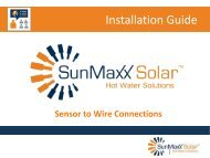 Installation Guide: Sensor To Wire Connections - SunMaxx Solar