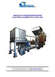 impianto di microgenerazione elettrica alimentato a pollina