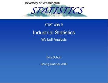 Weibull Analysis. - Statistics