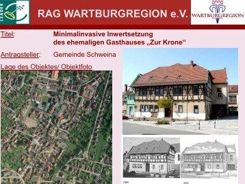"""""""Zur Krone"""" am Marktplatz in Schweina - RAG Wartburgregion"""