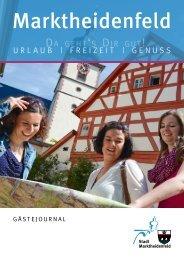 Gästejournal der Stadt Marktheidenfeld 2016