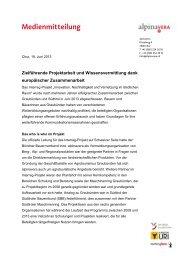 19.06.2013 Abschluss Interreg Projekt - Alpinavera