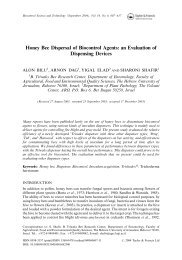 Honey Bee Dispersal of Biocontrol Agents: an Evaluation of ...
