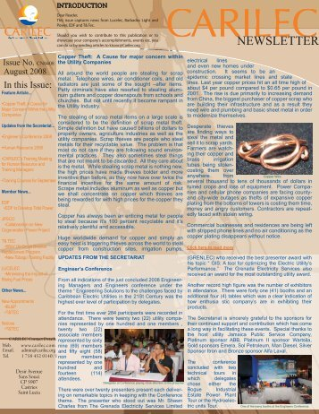 CARILEC Newsletter Aug08