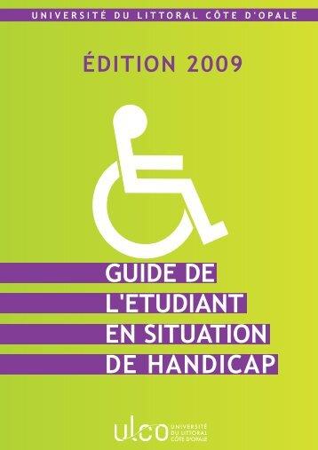 guide de l'etudiant en situation de handicap - Bureau de la Vie ...