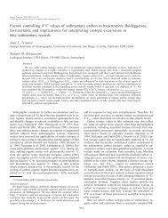 Limnol. Oceanogr., 50(3) - Climate Geology - ETH Zürich