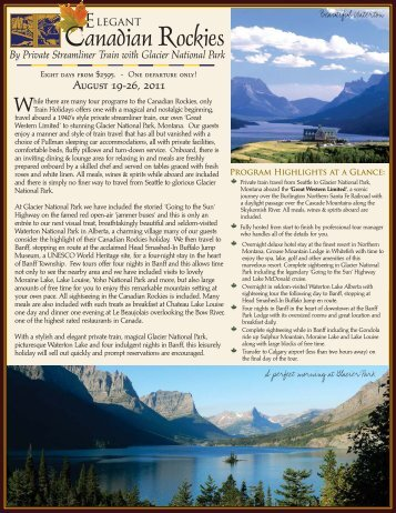 2011 Elegant Canadian Rockies... - Ohio University Alumni ...