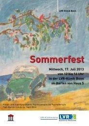 Sommerfest - LVR-Klinik Bonn