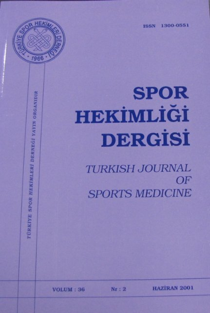 SPORTS MEDICINE - Spor Bilim