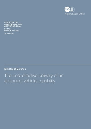 Executive summary (pdf - 175KB) - National Audit Office