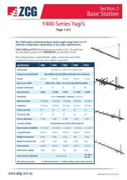 Section 1 Yagi Y400 Series BASE STATION ANTENNAS - ZCG Scalar