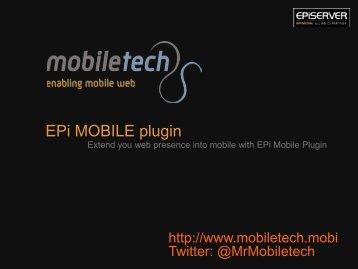 EPI MOBILE plugin - EPiServer World
