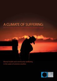A Climate of Suffering Report - The Climate Institute