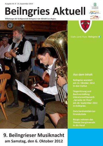 Beilngries aktuell - Ausgabe 09/2012
