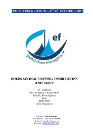 Shipping Guidelines (PDF) - Online Educa Berlin