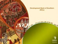 Development Bank of Southern Africa - Department of Trade and ...