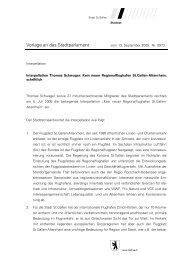 Vorlage an das Stadtparlament - Grüne Kanton St. Gallen