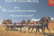 Gary Milavec- capital markets Update