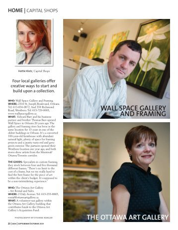 WALL SPACE GALLERY AND FRAMING THE ... - Ottawa At Home