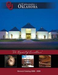 2006-08 OU General Catalog - University of Oklahoma