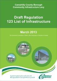 Draft Regulation 123 List of Infrastructure (PDF 379kb)