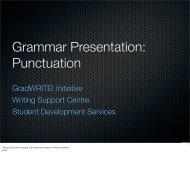 Grammar Presentation: Punctuation - Student Development Services
