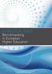 A prActicAl guide Benchmarking in european Higher education
