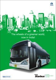 The wheels of a greener world, now in India! - Buses - Tata Motors
