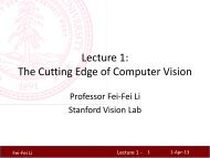 Lecture 1: What is CV? - Stanford Vision Lab