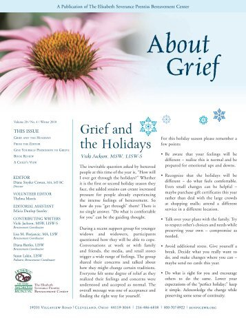 Grief and the Holidays - Hospice of the Western Reserve