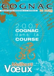 MAGAZINE MUNICIPAL D'INFORMATIONS - N ... - Ville de Cognac