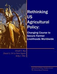 Rethinking US Agricultural Policy - In Motion Magazine