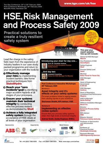 to download the HSE Risk Management Flyer - Bureau Veritas