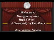 available here - Montgomery Blair High School