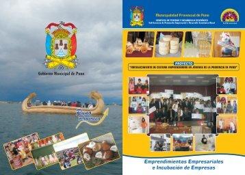 MPP Revista emprendimiento - Municipalidad Provincial de Puno