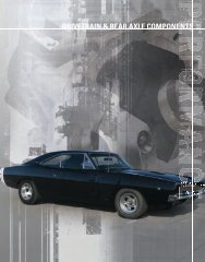 DRIVETRAIN & REAR AXLE COMPONENTS - Mopar