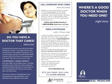 Where's a Good Doctor When You Need One - St. John Health System