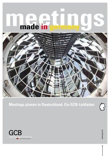 Meetings planen in Deutschland.  Ein GCB-Leitfaden ( 8