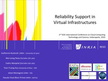 Reliability Support in Virtual Infrastructures - salsahpc