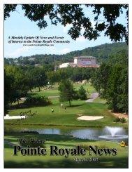 P Royale newsletter May 06 - Pointe Royale Golf Village:: Branson ...