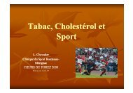 tabac, cholesterol et sport - Club des Cardiologues du Sport