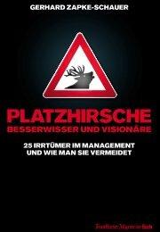 deutsche Buchpublikationen Gerhard Zapke-Schauer - EuRatio