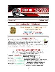 Volume 6 Issue 4 - October 2, 2008 - Owensboro Public Schools