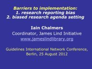 Barriers to implementation - Guidelines International Network