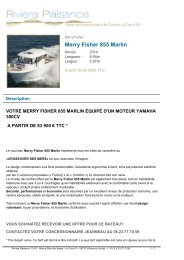 Merry Fisher 855 Marlin - Riviera Plaisance