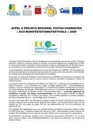 appel a projets regional poitou-charentes - Pays de l'Albigeois et ...
