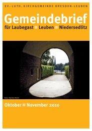 Gemeindebrief Oktober / November 2010 - Ev.-Luth. Kirchgemeinde ...