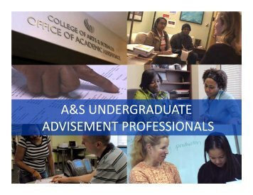 a&s undergraduate advisement professionals - College of Arts ...