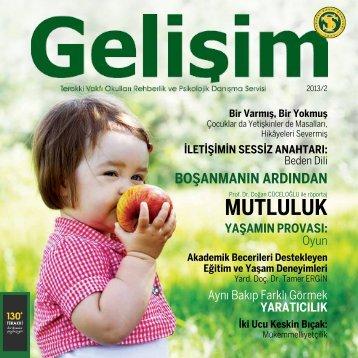 Gelişim Dergisi 2013/2 - Terakki Vakfı Okulları