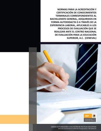 normas para la acreditación y certificación de ... - Cobaej